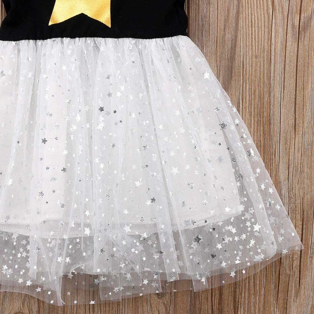 Baby Girls Vest Dress GorNorriss Sleeveless Stars Print Princess Gauze Starry Sky Dress