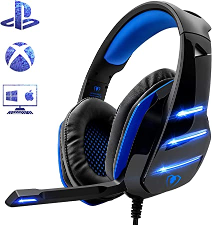 Beexcellent Gm 3 Cuffie Gaming Super Confortevole Con Microfono E Stereo Bass Per Xbox One Ps4 Pc Smartphone 3 5mm Blu Amazon It Elettronica