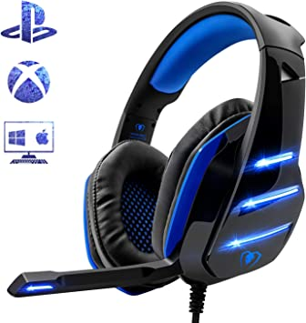 Beexcellent - Auriculares para PS4, Surround Bass Sound ...