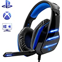 Cascos PS4, El Último Modelo de Beexcellent GM-3 Súper Cómodo Graves Amplificados Professional Auriculares para PS4 / PC / Xbox one / Mac /con Cancelación de Ruido de Mic Compatible