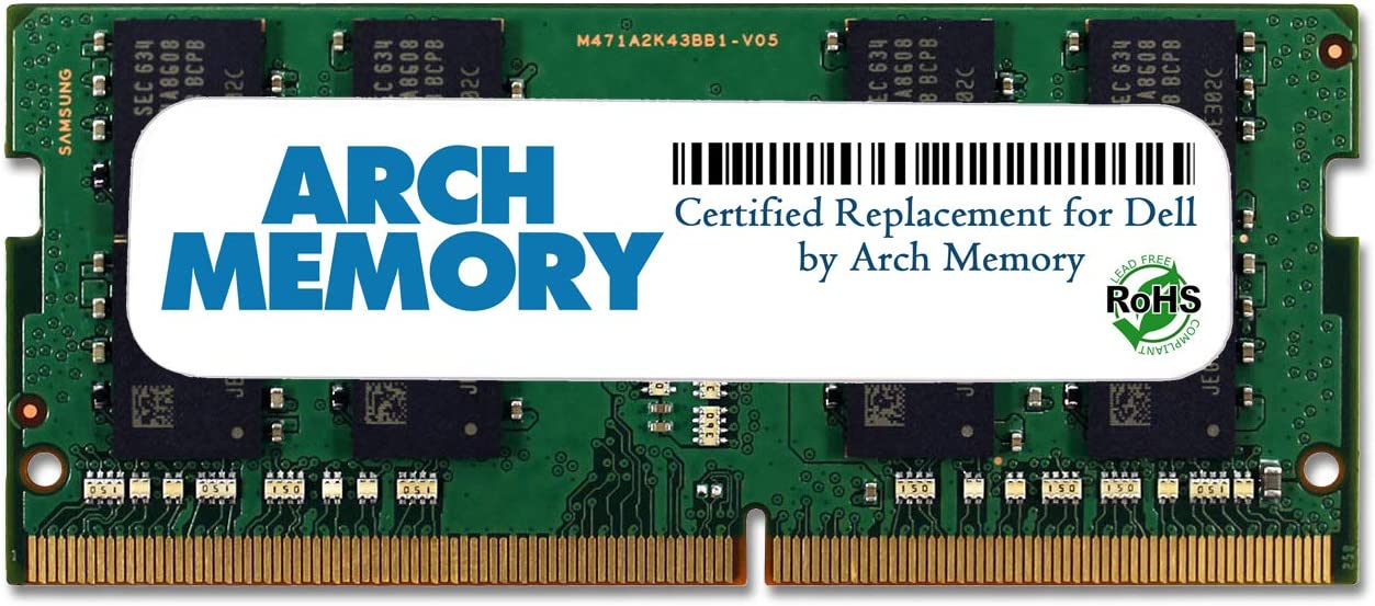 Arch Memory Replacement for Dell SNP821PJC/16G A9168727 16 GB 260-Pin DDR4 So-dimm RAM for Inspiron 13 7375