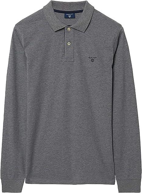 Gant Men/'s Contrast Collar Pique Rugger Polo Shirt Black