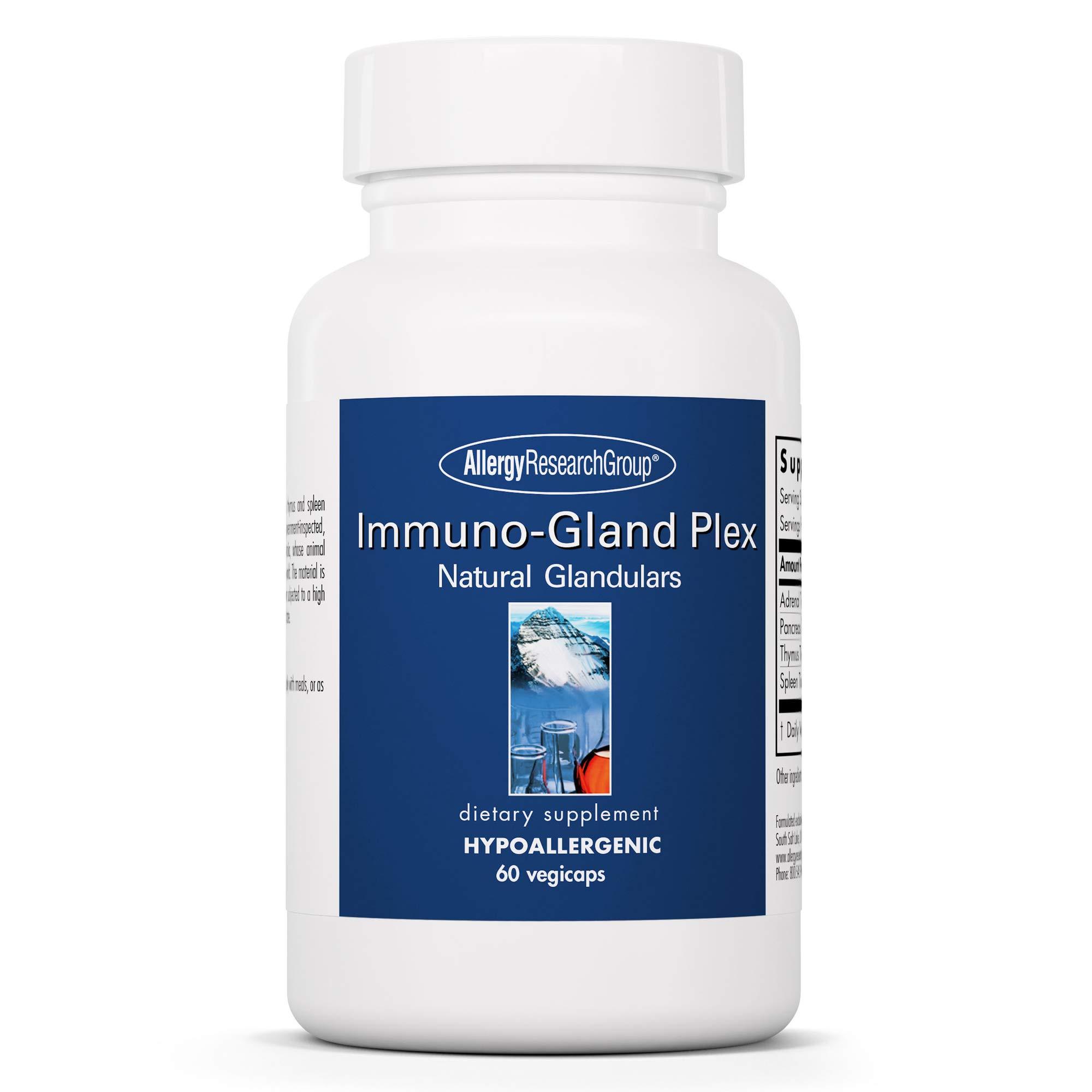 Allergy Research Group - Immuno-Gland Plex - Adrenal, Pancreas, Thymus, Spleen - 60 Vegicaps