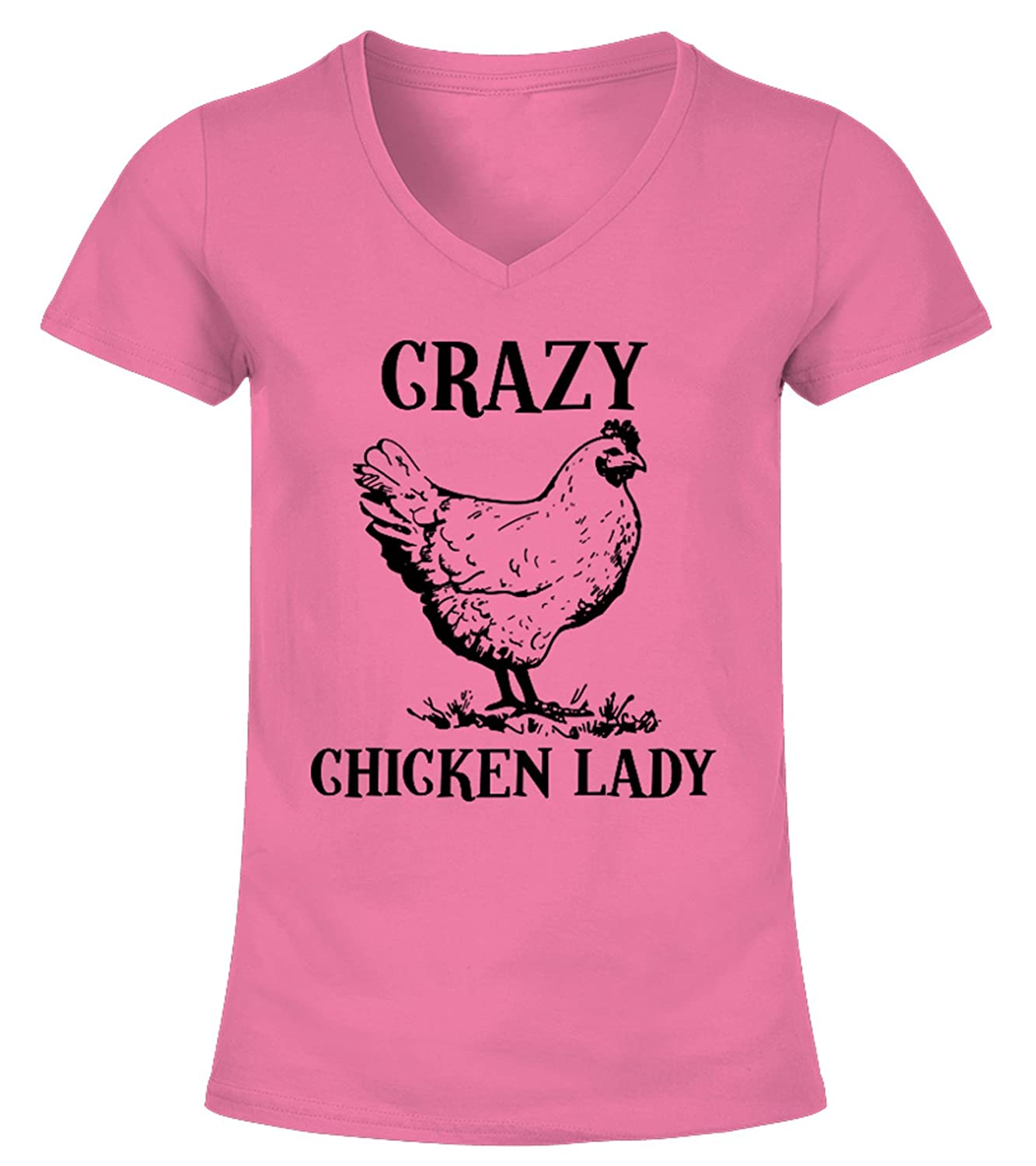 Crazy Chicken Lady Shirt, Funny Farm Shirt, Chicken Lovers Gifts, Women T-Shirt