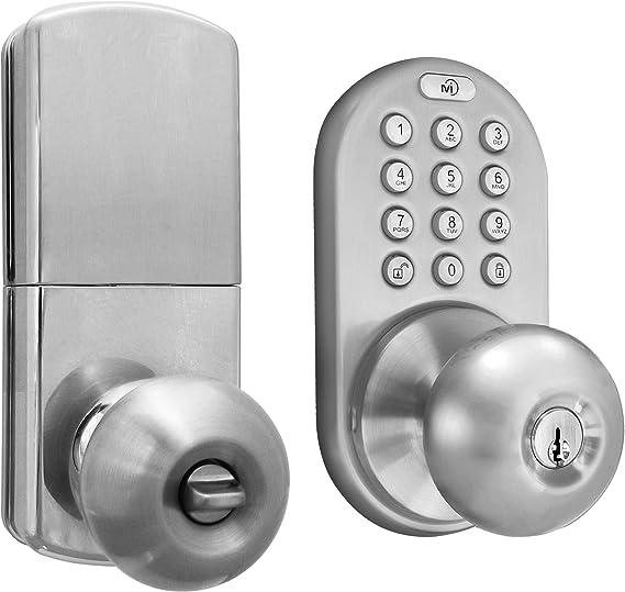 MiLocks DKK-02SN Cerradura de puerta sin llave con sistema táctil electrónico níquel satinado