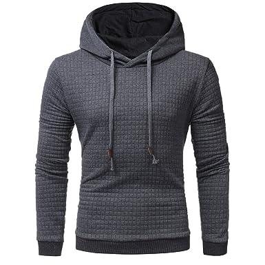 factory price 8c69c 127ab ITISME Herren Pullover Herren Langarm-Plaid Hoodie Kapuzen Sweatshirt  Mantel Outwear Gestreift Gelb Hellblau Sale