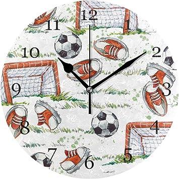 Vinlin Reloj de Pared diseño de balón de fútbol, para Oficina ...