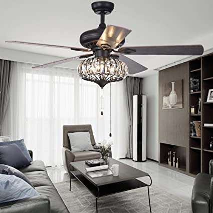 Classical Led Ceiling Fan With Light For Living Room Bedroom Dining Room Lighting And Fan Wind Three Leaves Led Fans Light Reliable Performance Ceiling Lights & Fans Lights & Lighting