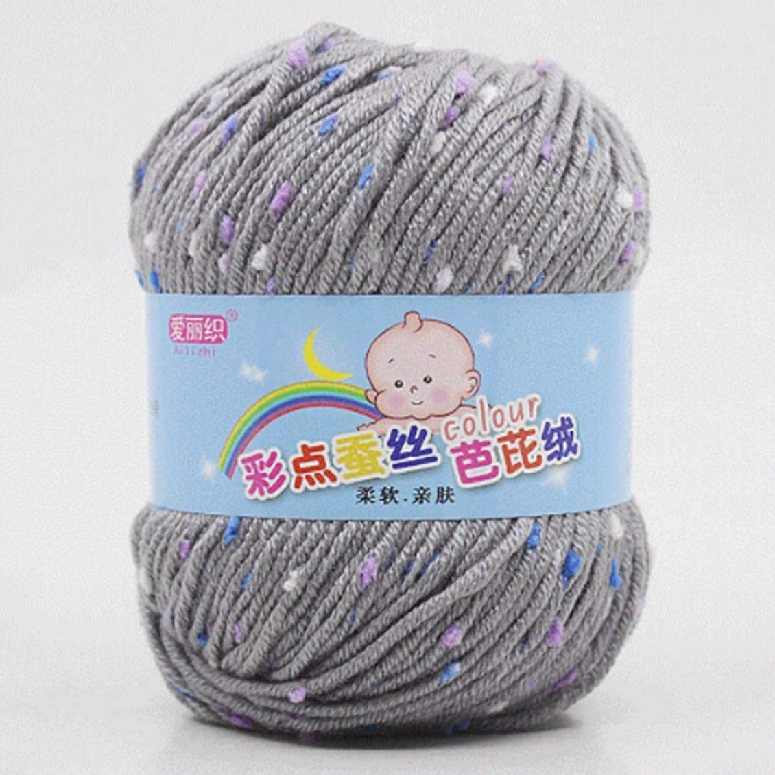 shanyufeng Wonderful - Ovillo de Lana de algodón para Tejer, 50 g ...