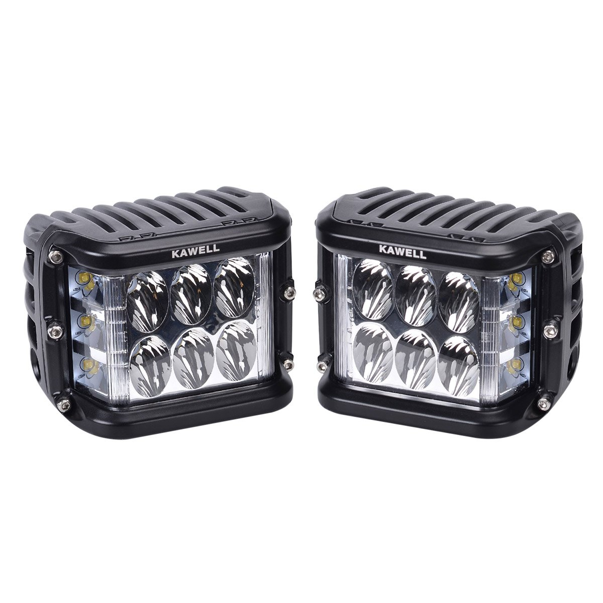 KAWELL Dual Side Shooter Led Cube 45W fü hrte Arbeitslicht Off Road Led Nebel Arbeitslampe Bright fü r SUV Truck Car und mehr