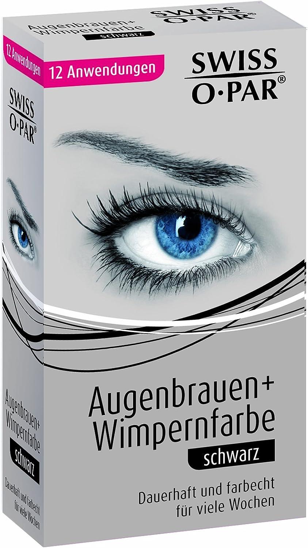 Swiss-o-Par de pestañas y cejas de color negro