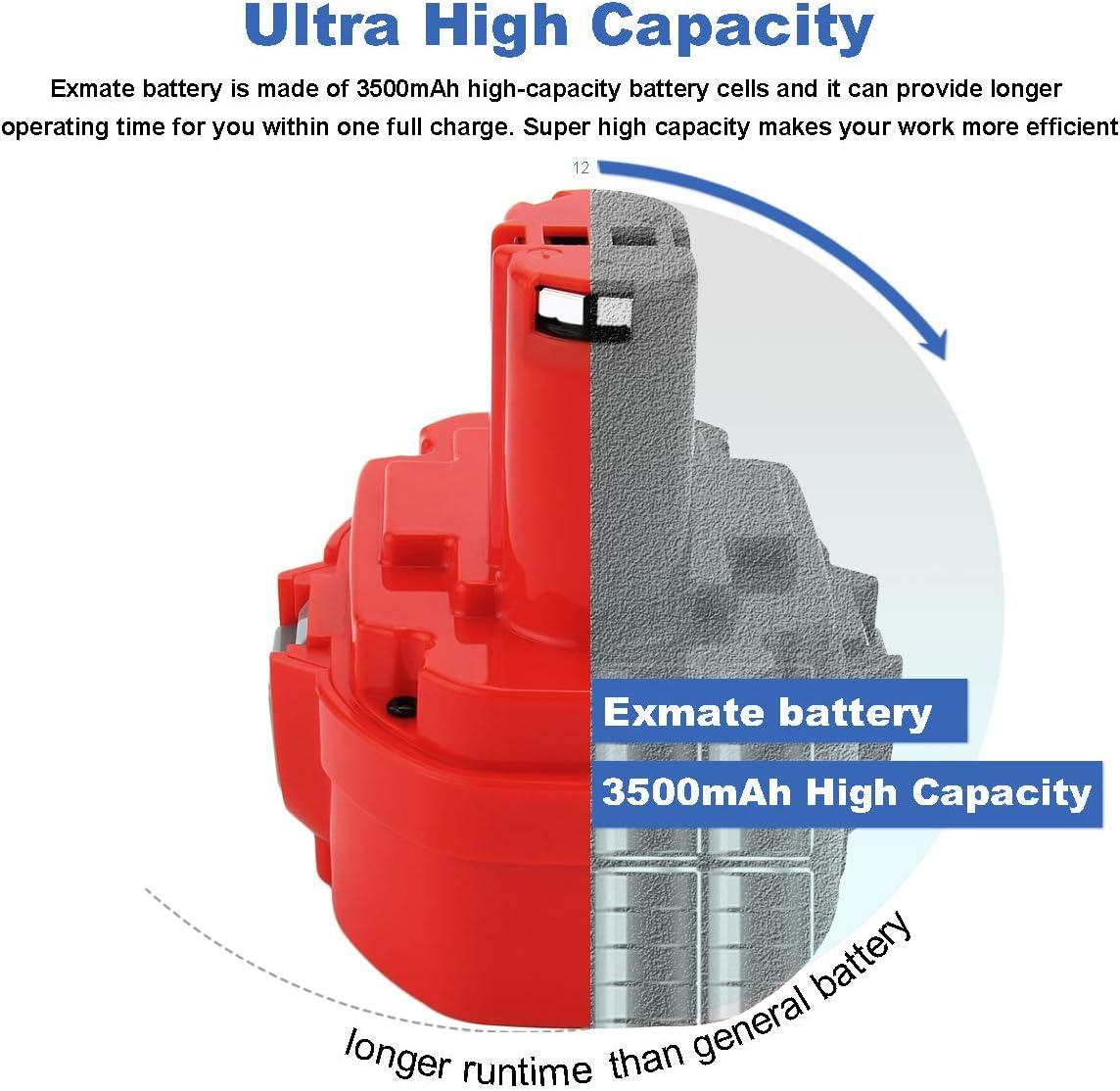 Batterie pour Makita 6343-dbe 6343-dwa 6343-dwb 6343-DWDE