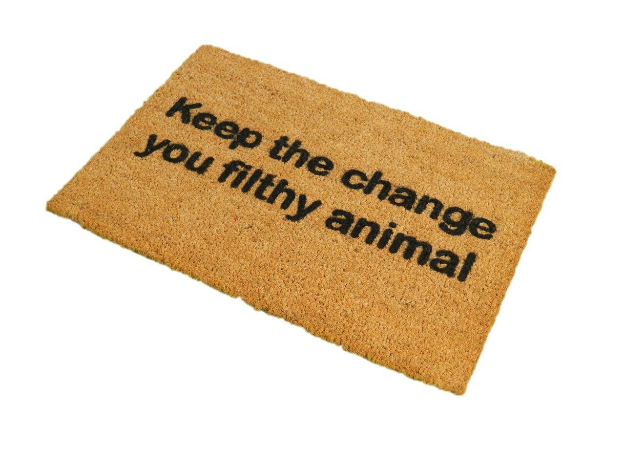 Doormat keep the change you filthy animal doormat photographs : Keep The Change You Filthy Animal Doormat: Amazon.co.uk: Kitchen ...