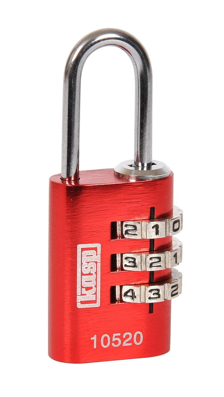Kasp K10520 Cadenas à combinaison aluminium 20 mm Rouge K10520REDD
