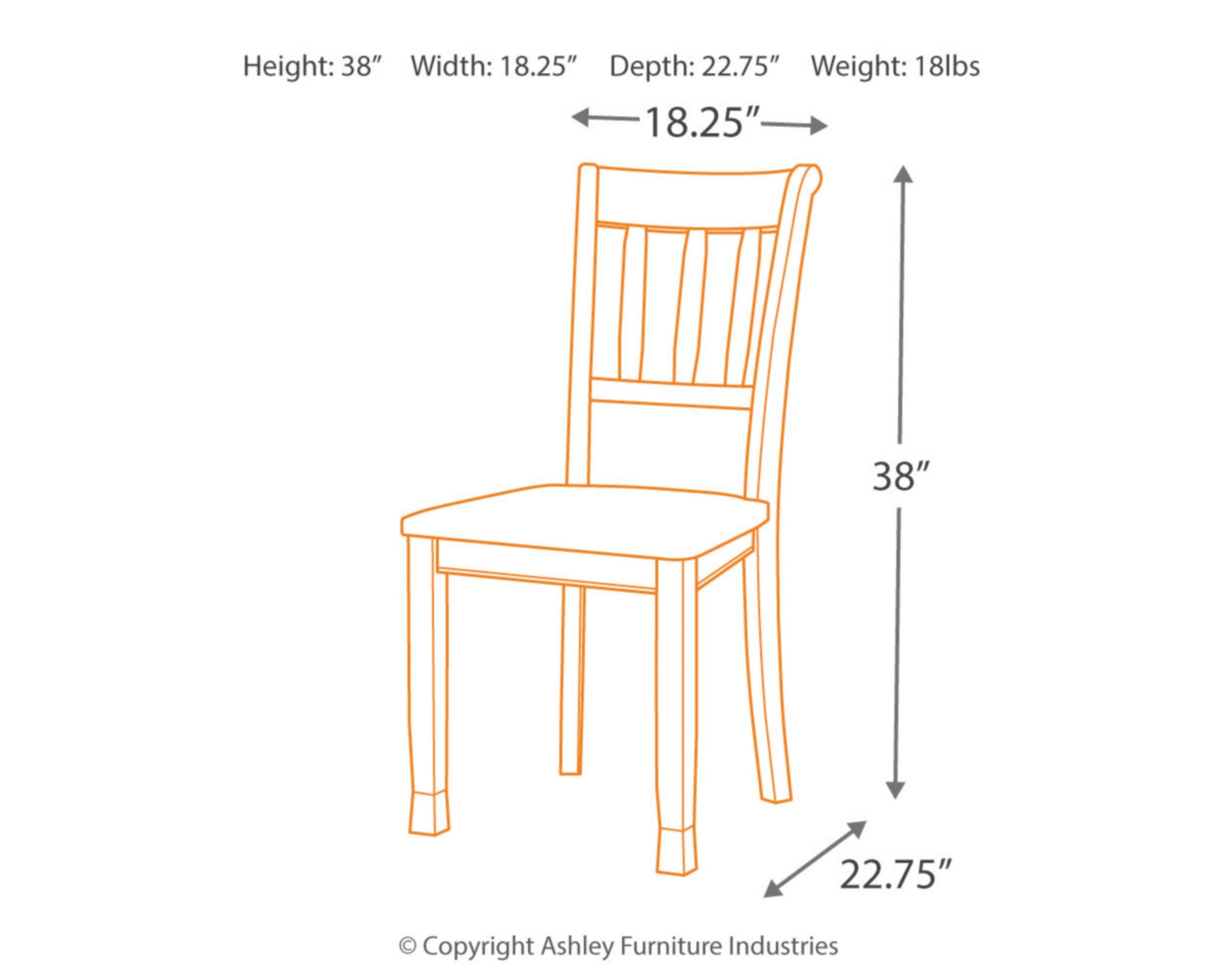 Ashley Furniture Signature Design - Owingsville Dining Room Side Chair - Latter Back - Set of 2 - Black-Brown by Signature Design by Ashley (Image #6)