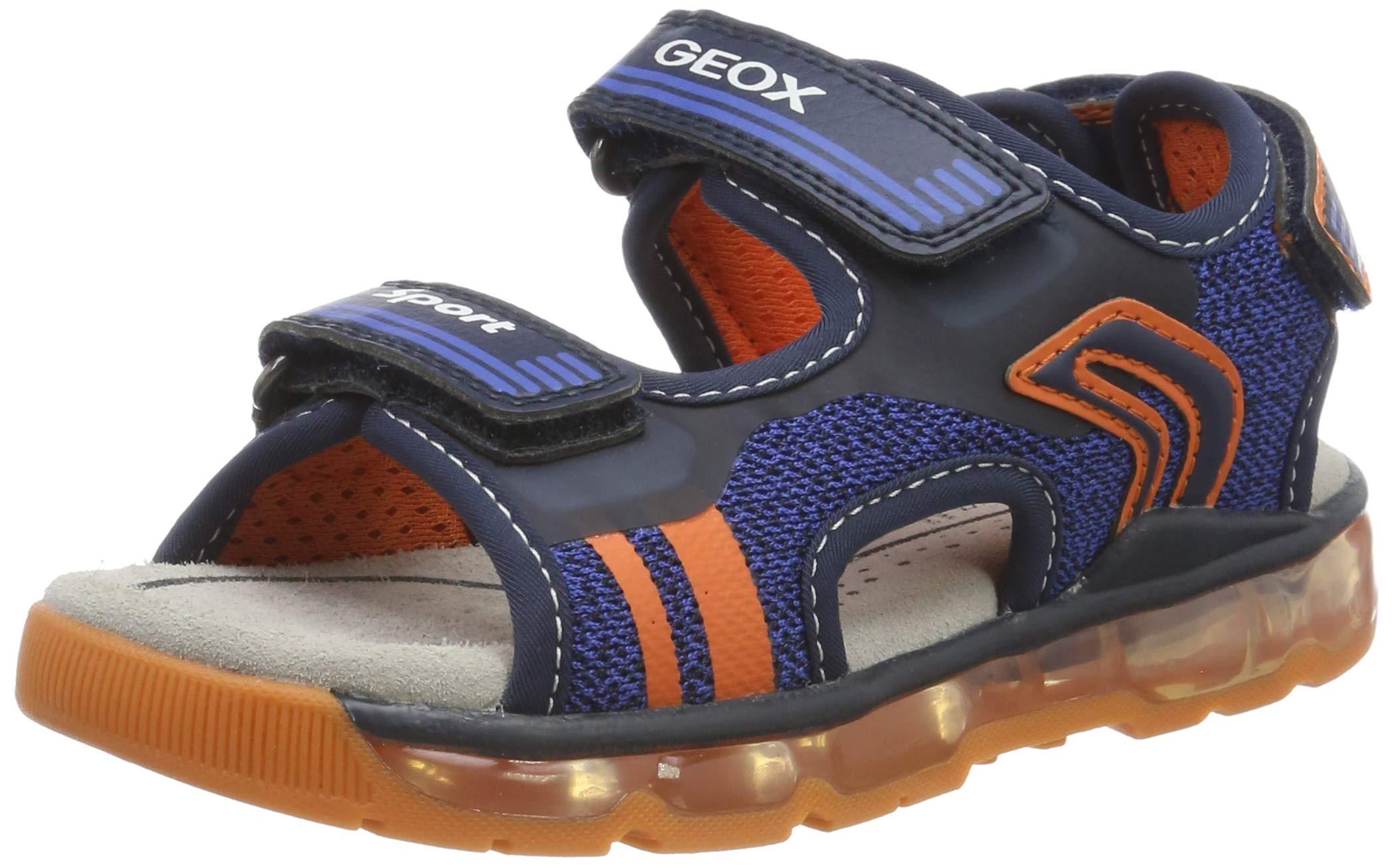 Geox Boys'' J Sandal Android A Open Toe, Blue (Navy/Orange C0659) 9 UK Child