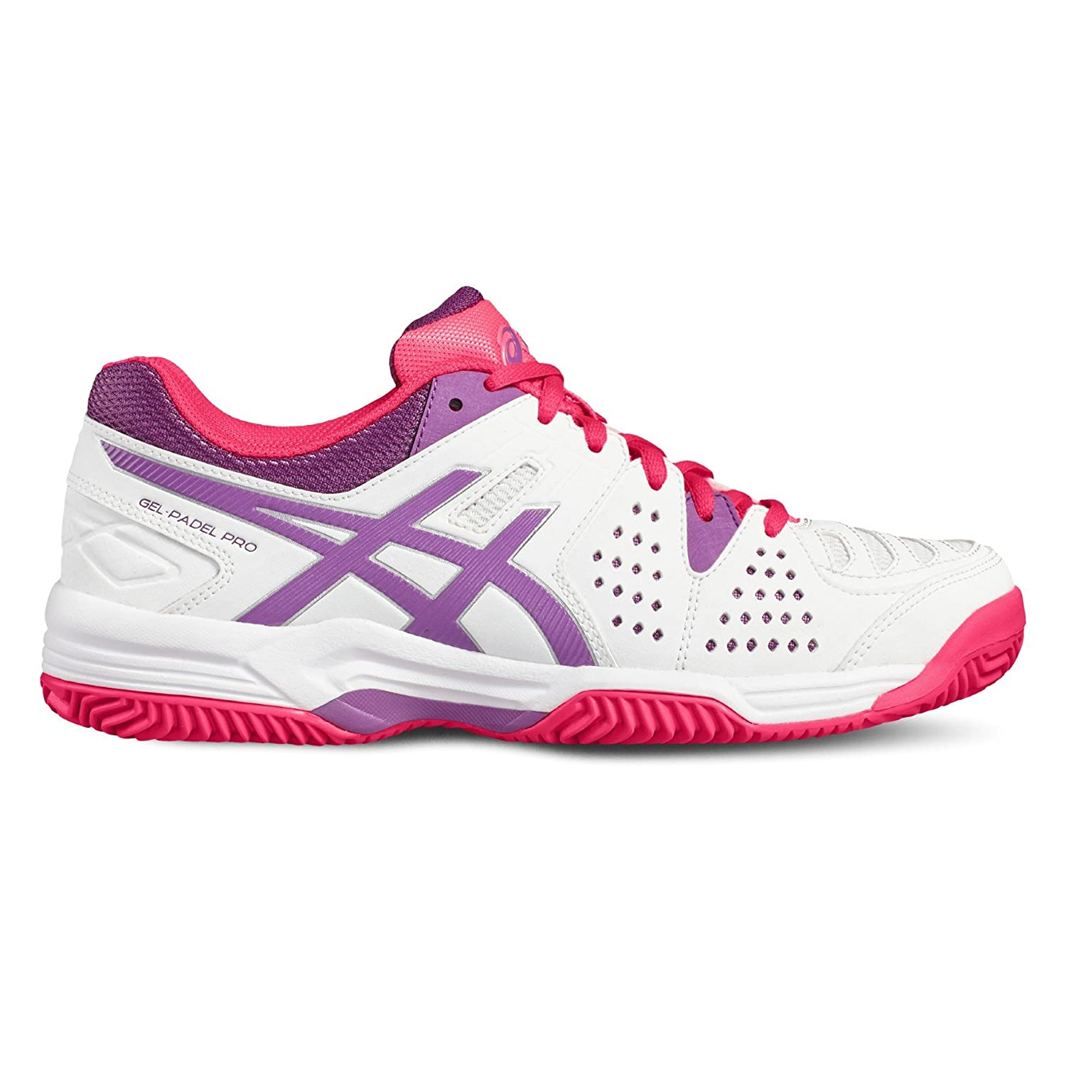 ASICS Gel Padel Pro 3 SG Blanco Purpura E561Y 0136: Amazon.es ...