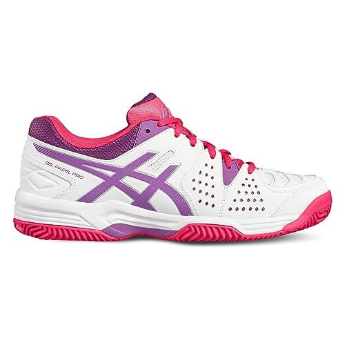 ASICS Gel Padel Pro 3 SG Blanco Purpura E561Y 0136: Amazon.es: Deportes y aire libre