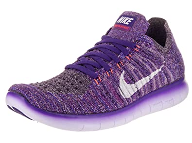 huge selection of b8a04 05b62 Nike Women s Free Running Motion Flyknit Shoes, Grand Purple White-bright  Mango-