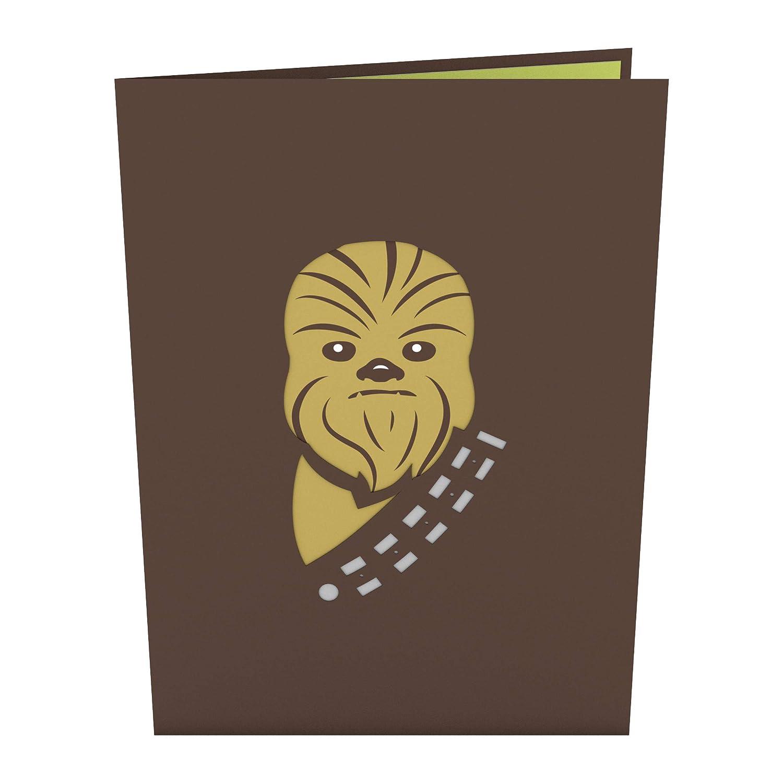 Tarjeta En 3d Star Wars Chewbacca