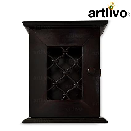 Buy Artlivo Wooden Wall Decor Wall Hanging Key Holder Box Online at ...