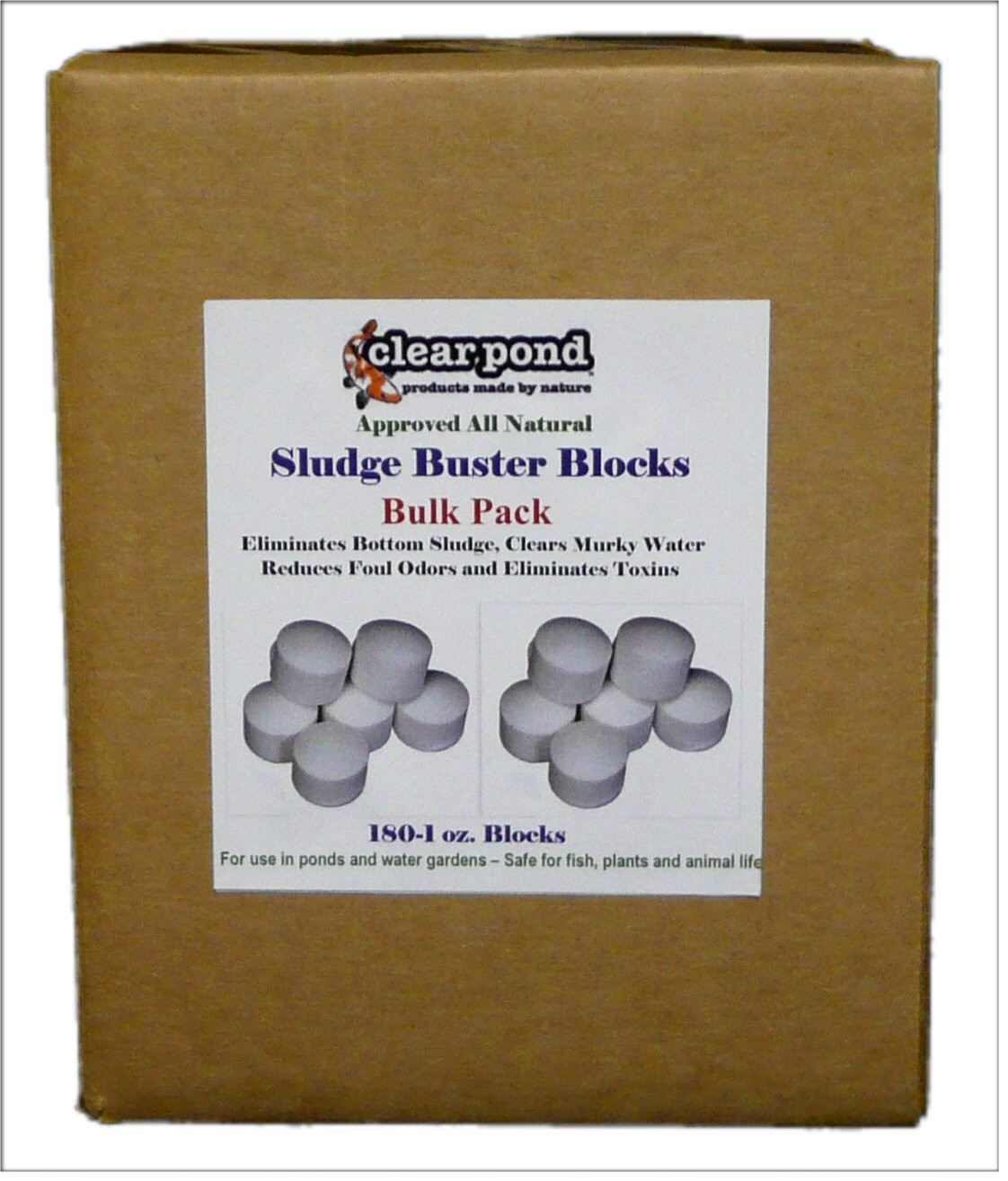 Clear Pond Sludge Buster Blocks - Pack of 180 1-Ounce Blocks