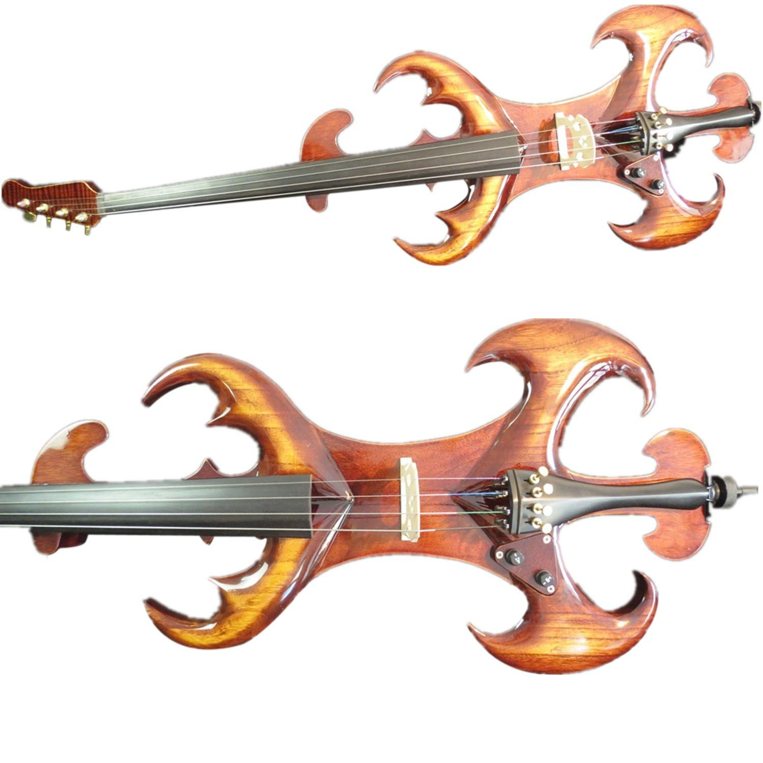 SONG Electric Cello 4/4,Brown Color Hand Made Solid Wood Free Case Bow,Rosin Cable
