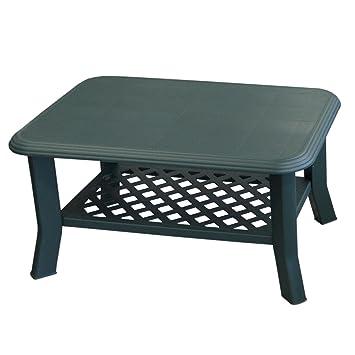 Table de jardin niso 90 x 60 x H47 cm plastique/vert - Table de ...