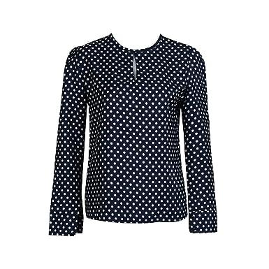 Culater® Mujeres Casual manga larga Blusas gasa lunares camiseta: Amazon.es: Ropa y accesorios