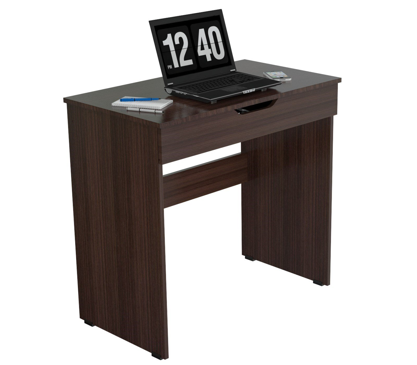 Inval ES-2803 Functional Writing Desk, Espresso-Wengue