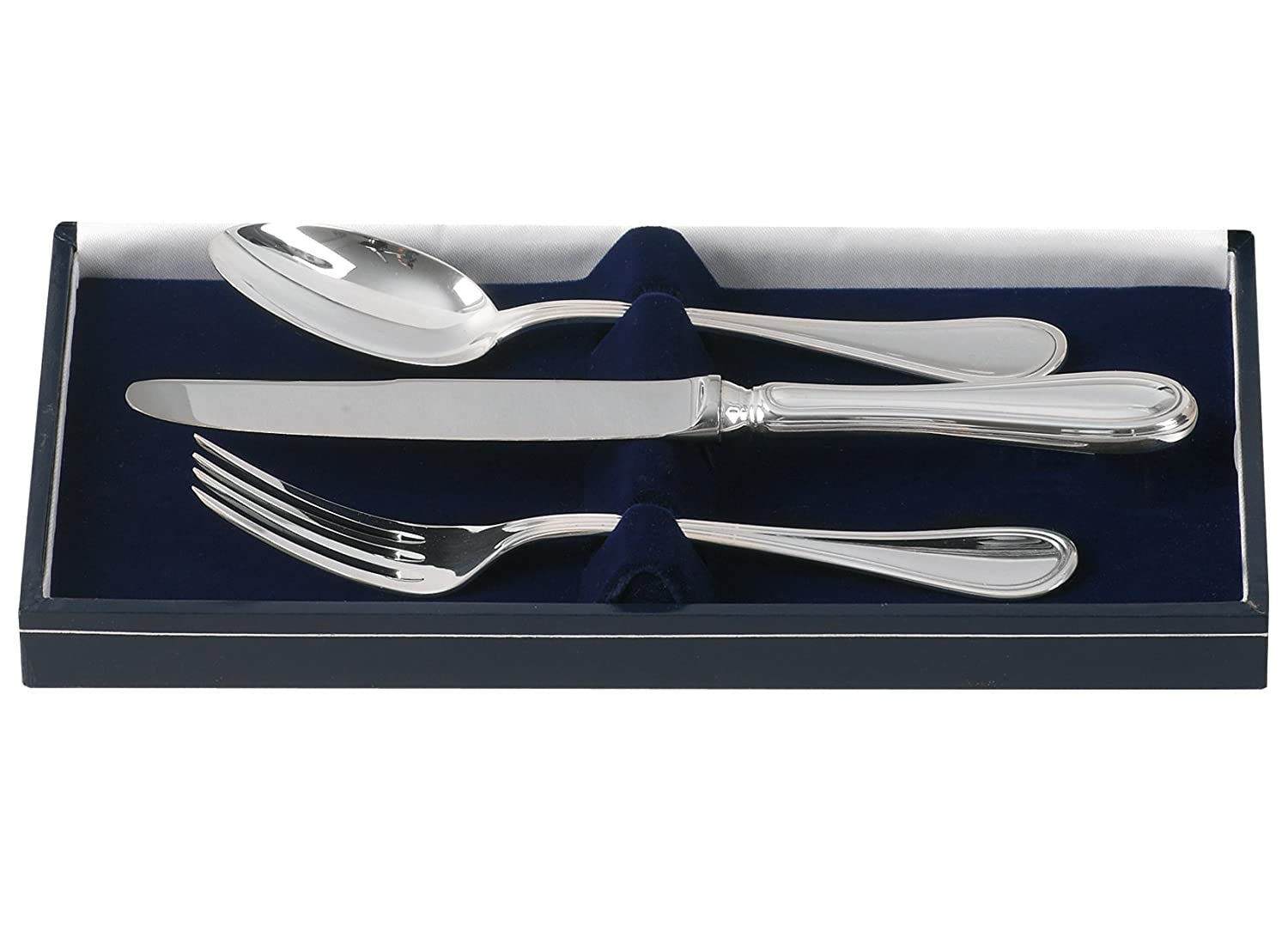 British Sterling Silber Baby Besteck Set – mit Box