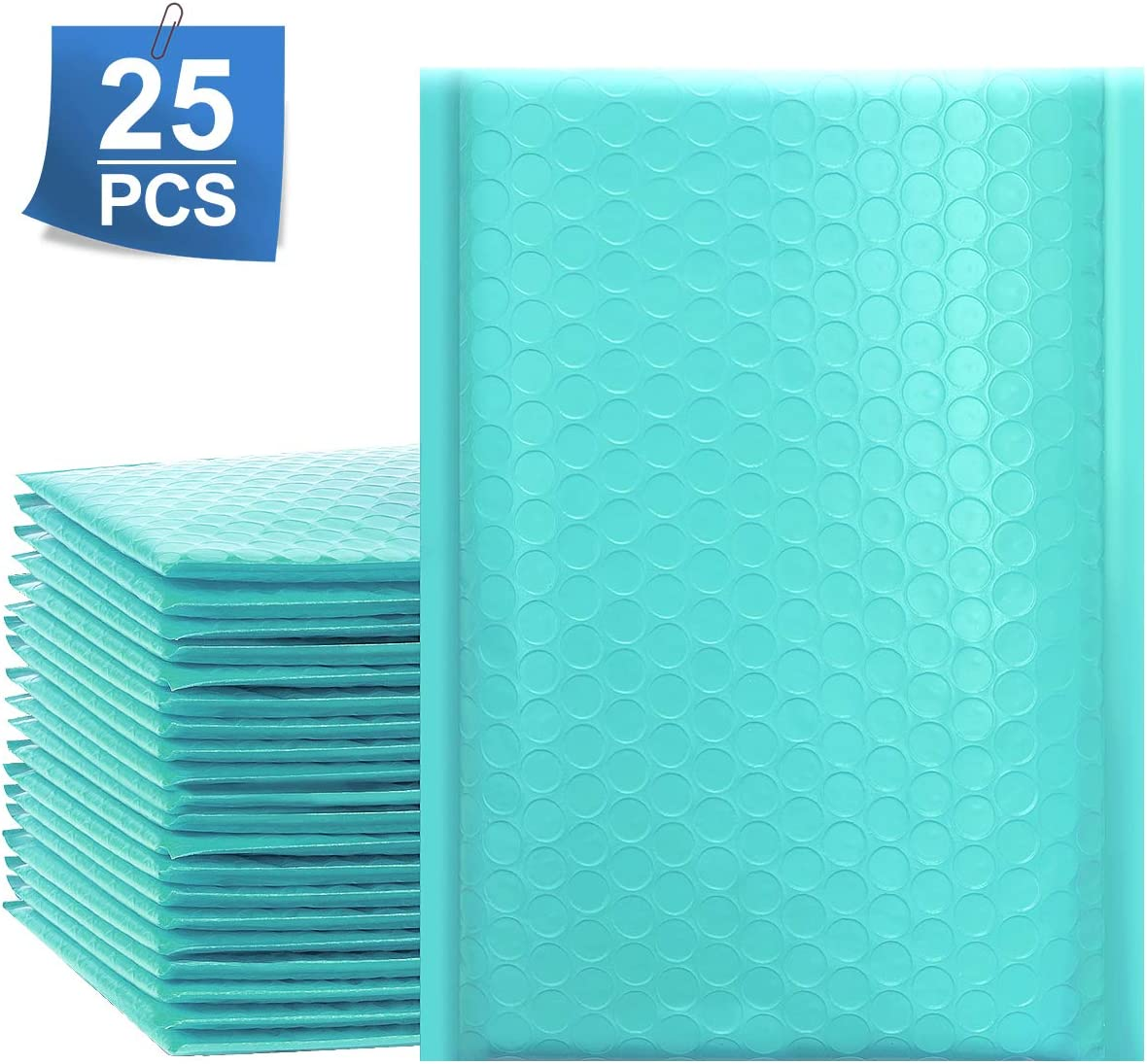 """UCGOU 6x10 Inch Teal Poly Bubble Mailers Padded Envelopes Self Seal Envelopes Bags Pack of 25 (Inside Size: 6x9"""") : Office Products"""