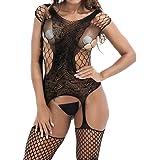 Kingwo Clearance Women Sexy Lingerie Set, Ladies G-String Fishnet Floral Babydoll Crotchless Bodysuits Nightwear