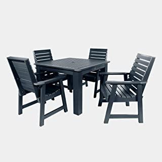 product image for highwood AD-DNW44-FBE Weatherly 5-Piece Square Height Dining Set, 42-Inch, Federal Blue
