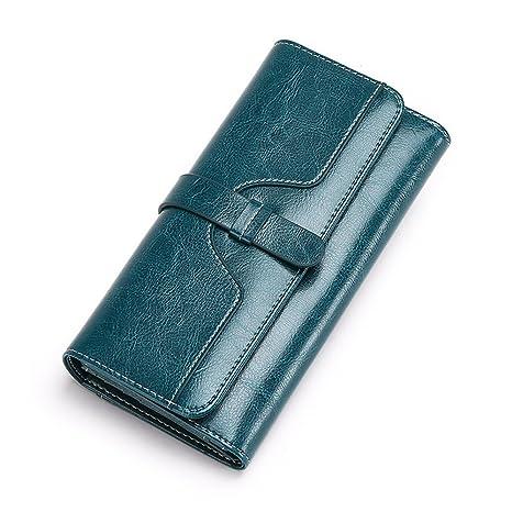 Monedero Multifuncional Bolso de Cuero Suave de Mujer Bolso de Mano Billetera de crédito Tarjeta de