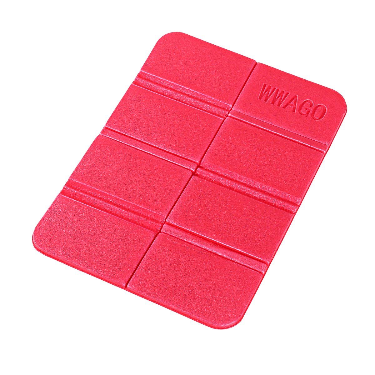WINOMO Almohadillas de Espuma XPE Plegables a Prueba de Humedad Asiento Acolchado para cojí n tapete de Asiento Impermeable para Picnic al Aire Libre (Rojo)