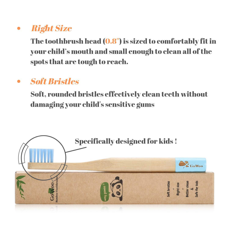 Amazon.com: GoWoo Cepillo de dientes de bambú 100% natural ...