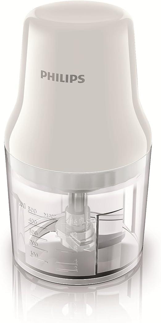Philips Daily HR1393/00 - Picadora, 450 W, 0.7 L, Blanco / Transparente