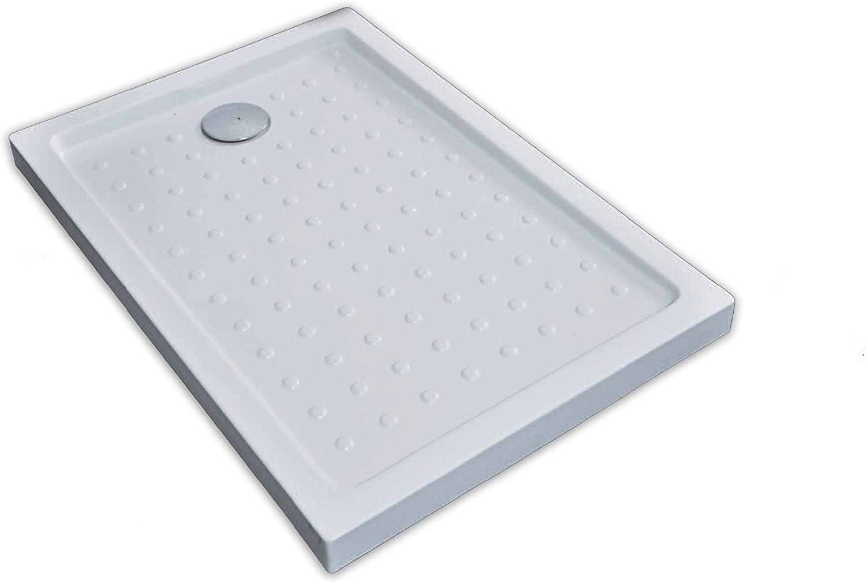 The Living Design 910802 Plato de ducha acrílico, Blanco, 90 x 90 x 6 cm: Amazon.es: Bricolaje y herramientas