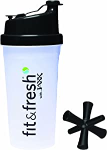 Fit & Fresh Power Shaker Bottle with patented Jaxx Agitator, Assorted Colors, 20 oz.