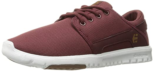 Women's Scout Skateboarding Shoe Burgundy/Tan/White 5 M US
