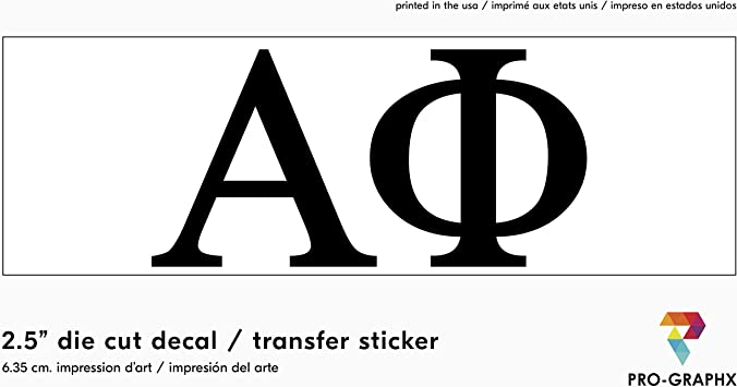 Pro-Graphx Alpha Delta Pi Sticker Greek Sorority Decal for Car Windows Laptop Girls College Group Monogram Design 2.5 Tall Officially Licensed Product White