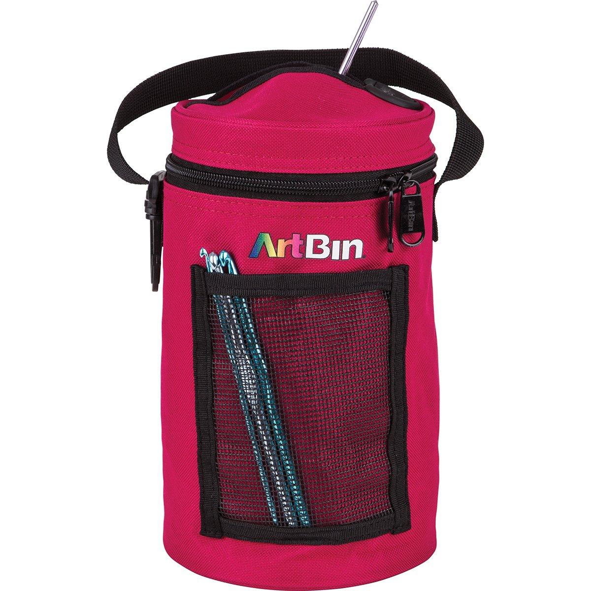 4a89131e3b8 ArtBin Mini Yarn Drum Knitting and Crochet Tote Bag, Raspberry 6831AG