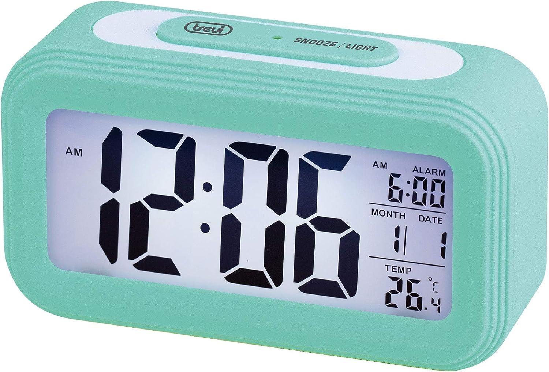 Trevi - Reloj Despertador, Turquesa, único