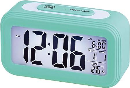 Trevi Reloj con TERMÓMETRO Digital con Alarma SLD 3068 S, Color, Azul Turquesa, Unica: Amazon.es: Hogar