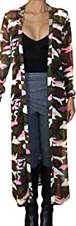 product image for Funfash Women Camo Pink Sheer Mesh Kimono Long Duster Cardigan Jacket Coat USA