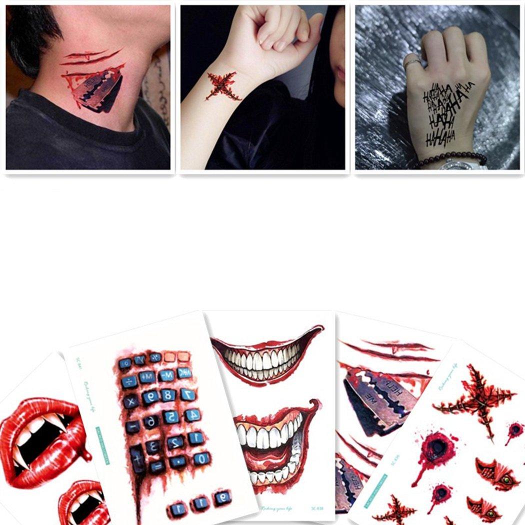 Zoylink Tattoo Sticker Waterproof Fake Tattoo Face Tattoo ...