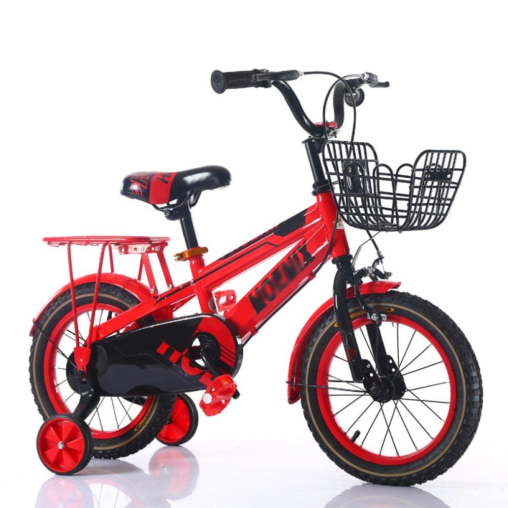 ZCRFY Bicicleta para Niños Premium Safety Kids Bicicletas Infantiles Ajustable Boys Girls Student Niños Pequeños Baby's Bike Masculino Y Femenino Comfortable,Red-12Inches