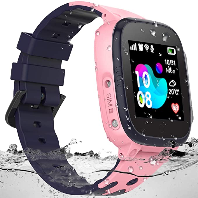 SZBXD Kids Waterproof Smart Watch - Boys & Girls Smartwatch Phone with Camera Games Touch Screen SOS Call Voice Chatting Christmas Birthday Gift ...