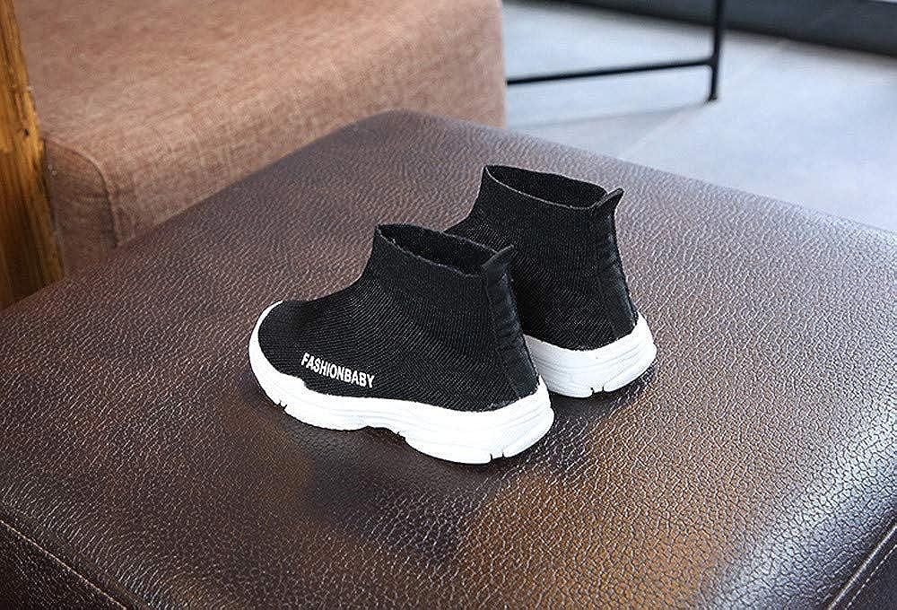❤ LHWY Chaussures Enfant en Bas b/éb/é,Chaussettes Sport Enfants en Maille Respirante Sneakers /élastiques Haut de Gamme Chaussures d/écontract/ées